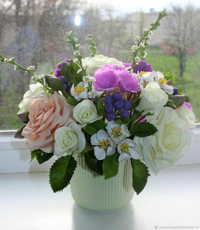 Букет из холодного фарфора, Цветы, Краснодар,  Фото №1