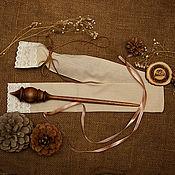 Материалы для творчества handmade. Livemaster - original item Wooden Spindle for Spinning    CASE. Siberian Cedar #B43. Handmade.