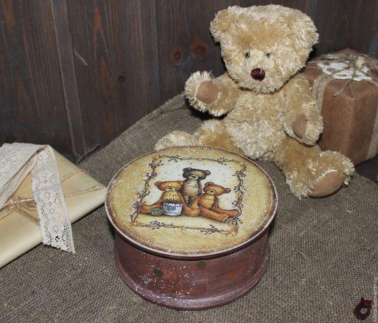 """Шкатулки ручной работы. Ярмарка Мастеров - ручная работа. Купить Шкатулка """"Teddy"""". Handmade. Комбинированный, шкатулка ля хранения"""
