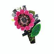 Украшения manualidades. Livemaster - hecho a mano El broche de la flor. Handmade.