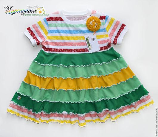 """Одежда для девочек, ручной работы. Ярмарка Мастеров - ручная работа. Купить Платье """"Летний одуванчик"""". Handmade. Комбинированный, пышное платье"""