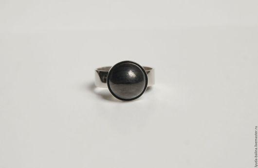 """Кольца ручной работы. Ярмарка Мастеров - ручная работа. Купить Кольцо с гагатом """"Ночной горизонт"""". Handmade. Черный, мельхиор, для женщины"""