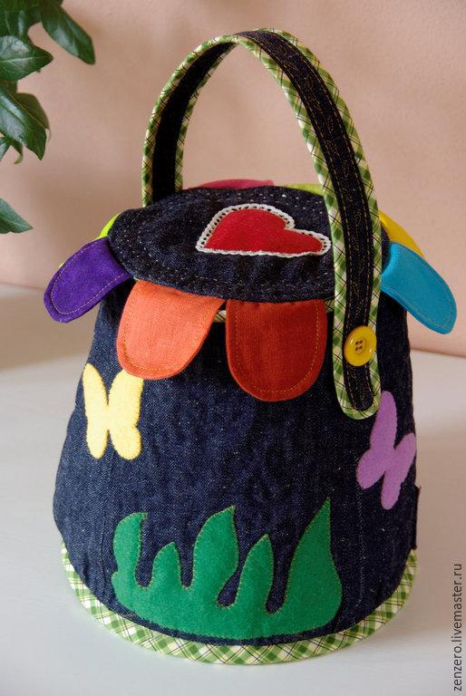 Женские сумки ручной работы. Ярмарка Мастеров - ручная работа. Купить Anechka (сумочка для девочки). Handmade. Тёмно-синий