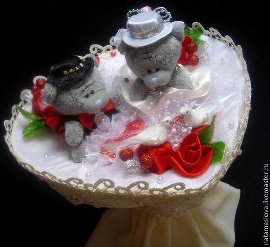 Букет из игрушек Мишки Тедди для невесты