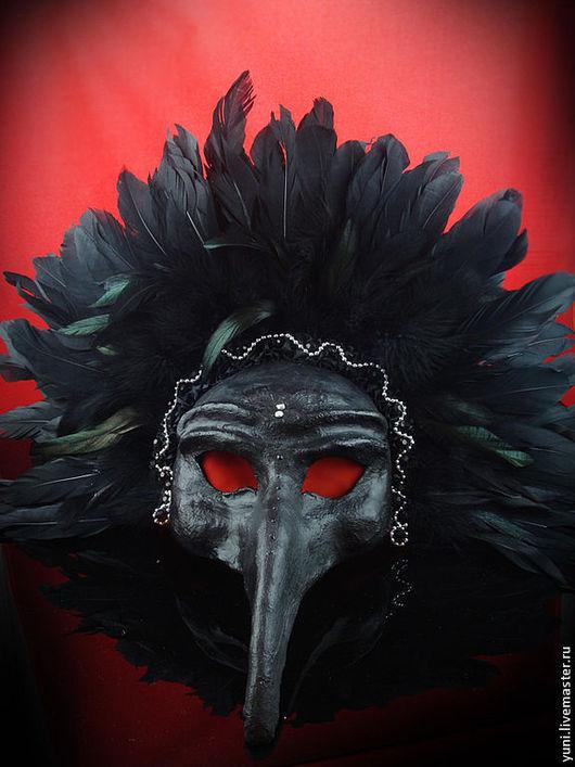 Карнавальные костюмы ручной работы. Ярмарка Мастеров - ручная работа. Купить Маска черный Ворон. Handmade. Черный, птица, Хэллоуин