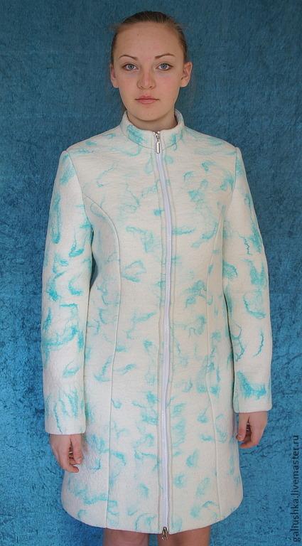 """Верхняя одежда ручной работы. Ярмарка Мастеров - ручная работа. Купить Пальто """" Гламурно-белое"""". Handmade. Белый"""