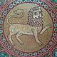 Order Plate vintage 'lion'. albinaustyugova (albinaustyugova). Livemaster. . Ware in the Russian style Фото №3