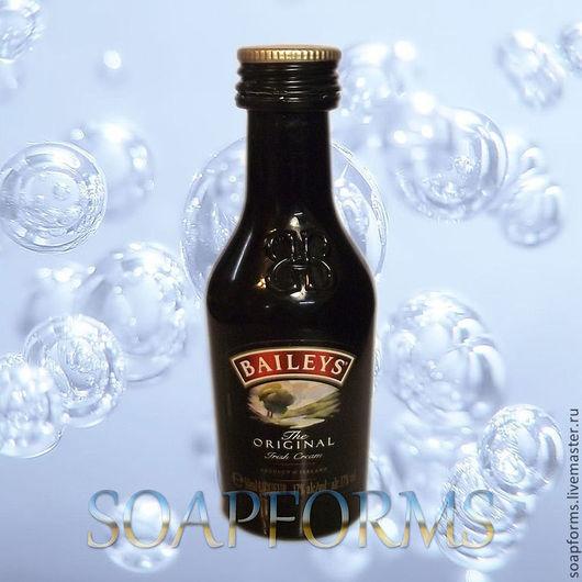 """Материалы для косметики ручной работы. Ярмарка Мастеров - ручная работа. Купить Силиконовая форма для мыла и свечей """"Бутылочка Baileys"""" 3D. Handmade."""