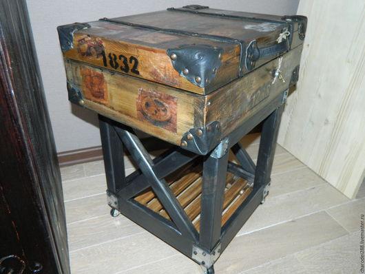 Мебель ручной работы. Ярмарка Мастеров - ручная работа. Купить Тумба-чемодан. Handmade. Коричневый, мебель из сосны