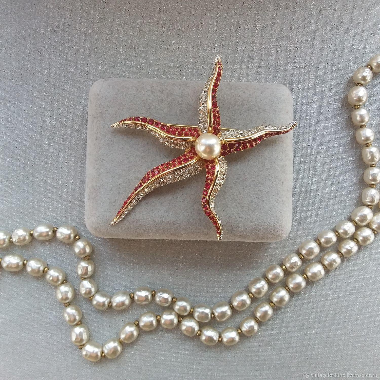 Boucher vintage starfish brooch 1960s, Vintage brooches, St. Petersburg,  Фото №1