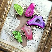 Украшения handmade. Livemaster - original item Bracelet with Druze agate bright. Handmade.
