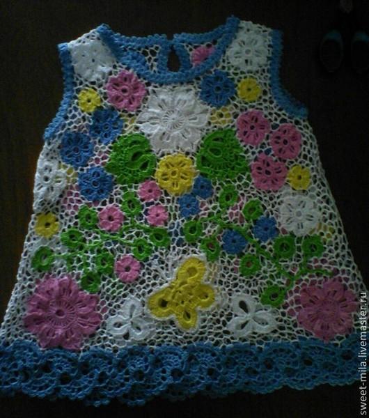 """Платья ручной работы. Ярмарка Мастеров - ручная работа. Купить Платье для девочки """"Летнее настроение"""". Handmade. Цветочный, для девочки"""