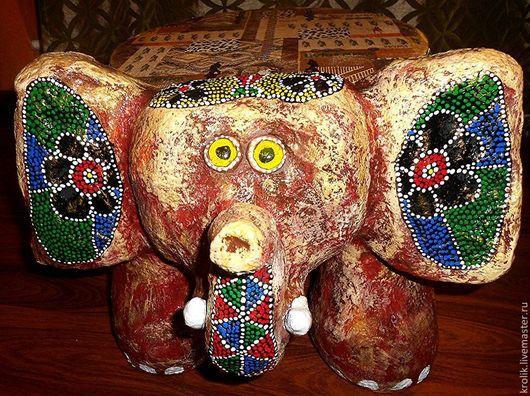 """Мебель ручной работы. Ярмарка Мастеров - ручная работа. Купить Табурет """"Слоник"""".. Handmade. Слон, Мебель, папье-маше"""