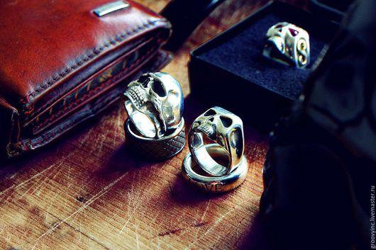 Кольца ручной работы. Ярмарка Мастеров - ручная работа. Купить Кольцо - череп Джонни Деппа из серебра. Handmade.