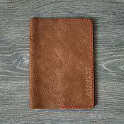 Обложки ручной работы. Ярмарка Мастеров - ручная работа Обложка для паспорта из натуральной кожи. Handmade.