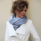 Аксессуары ручной работы. Ярмарка Мастеров - ручная работа Шарф валяный шерсть на шелке серый. Handmade.