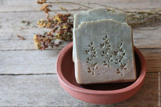 Мыло ручной работы. Ярмарка Мастеров - ручная работа. Купить ПОЛЫНЬ И КЕДР Натуральное шелковое мыло, мужское мыло. Handmade.