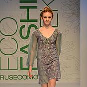 Одежда ручной работы. Ярмарка Мастеров - ручная работа Платье из шерсти и шелка. Handmade.