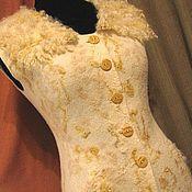 """Одежда ручной работы. Ярмарка Мастеров - ручная работа """"Сливочный"""" жилет. Handmade."""