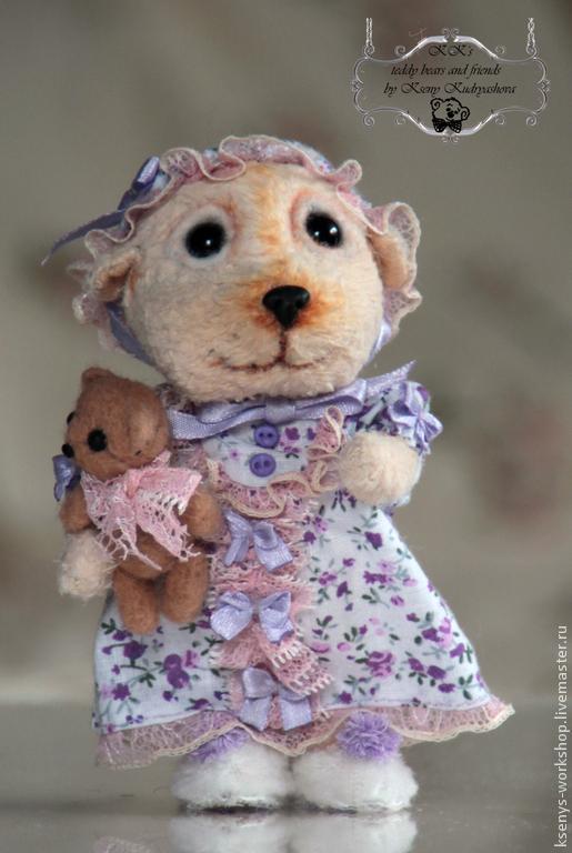 Мишки Тедди ручной работы. Ярмарка Мастеров - ручная работа. Купить Мишка Маня. Handmade. Бежевый, мишка девочка