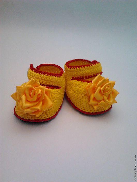 Пинетки,детская обувь,домашняя обувь,обувь, тапочки ручной работы.