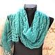 Shawls & Warm Stoles handmade. The Maltese shawl, jade. Shawl Masterpiece. Online shopping on My Livemaster.