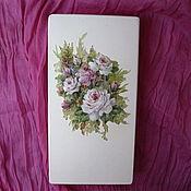 Для дома и интерьера ручной работы. Ярмарка Мастеров - ручная работа Шкатулка для выращивания денег  Нежные розы. Handmade.