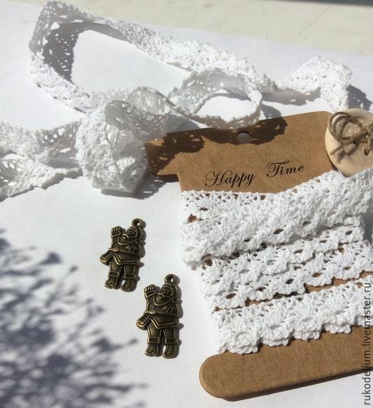 Для украшений ручной работы. Ярмарка Мастеров - ручная работа. Купить Подвеска металлическая. Handmade. Металлические подвески, дед мороз