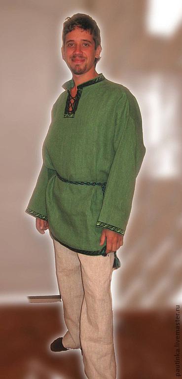 Одежда ручной работы. Ярмарка Мастеров - ручная работа. Купить Рубаха мужская в славянском стиле. Handmade. Славянский стиль