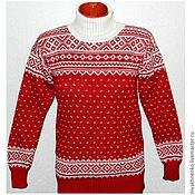 Одежда handmade. Livemaster - original item Sweater with a Norwegian ornament Santa Claus. Handmade.