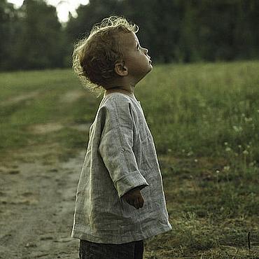 Работы для детей, ручной работы. Ярмарка Мастеров - ручная работа Льняные порты и рубаха для мальчика. Handmade.