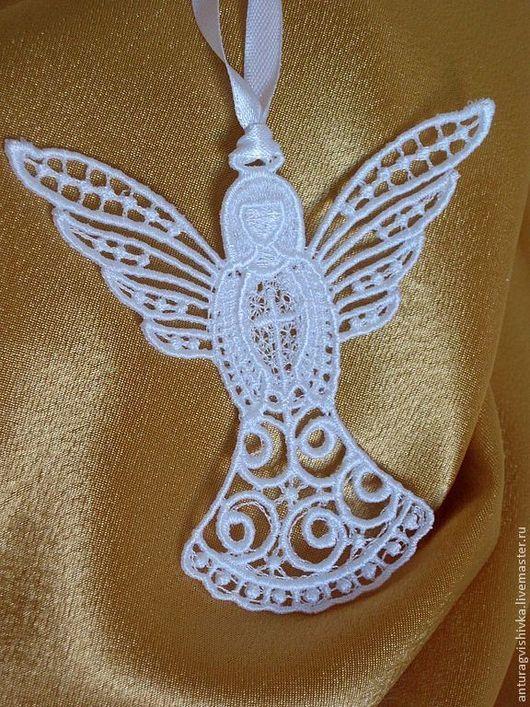 Ангел-хранитель кружевной - прекрасный НОВОГОДНИЙ подарок, ПОДАРОК НА РОЖДЕСТВО.