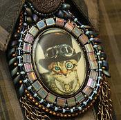 Украшения ручной работы. Ярмарка Мастеров - ручная работа Кулон со стимпанк-котом. Handmade.