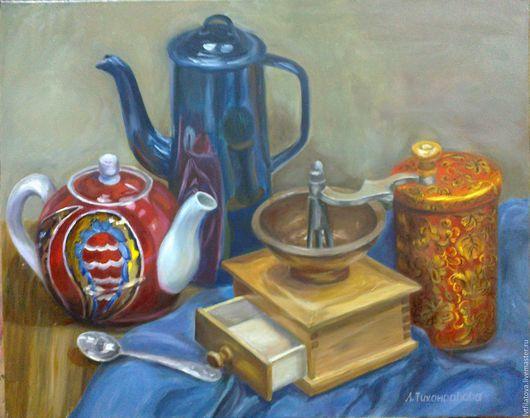 """Натюрморт ручной работы. Ярмарка Мастеров - ручная работа. Купить Картина """"Натюрморт с кофемолкой"""", холст, масло, 40х50 см.. Handmade."""