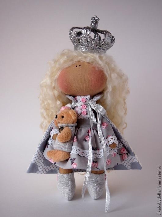 Коллекционные куклы ручной работы. Ярмарка Мастеров - ручная работа. Купить Принцесса. Handmade. Серый, серебряный, кудри для кукол