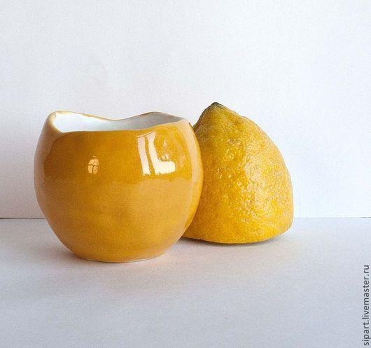 """Пиалы ручной работы. Ярмарка Мастеров - ручная работа. Купить Пиала-вазочка """"Лимончелло"""". Handmade. Желтый, для кухни, глазурь по керамике"""