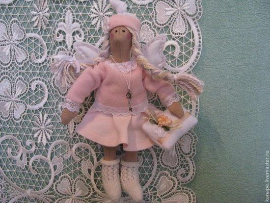 Куклы Тильды ручной работы. Ярмарка Мастеров - ручная работа. Купить Сплюшка. Handmade. Бледно-розовый, подарок на 8 марта