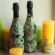 """Свадебный салон ручной работы. Ярмарка Мастеров - ручная работа Декор бутылок """"Восток - дело тонкое"""". Handmade."""