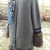 Одежда handmade. Livemaster - original item Coat with a real fur Oversize. Handmade.