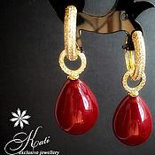 Украшения handmade. Livemaster - original item Earrings: with Mallorca pearls. Handmade.