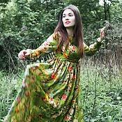 """Одежда ручной работы. Ярмарка Мастеров - ручная работа шифоновое платье """"сказочный лес"""". Handmade."""