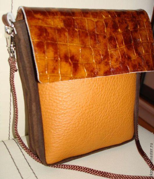 Женские сумки ручной работы. Ярмарка Мастеров - ручная работа. Купить сумочка кошелек натуральная кожа. Handmade. Рыжий