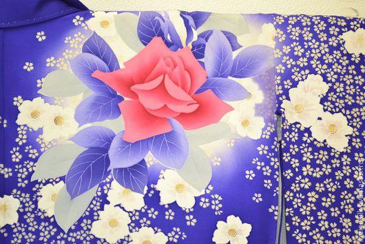 Одежда. Ярмарка Мастеров - ручная работа. Купить Антикварное фурисоде  натуральный шелк. Handmade. Комбинированный, кимоно, женское кимоно