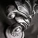 """Освещение ручной работы. Ярмарка Мастеров - ручная работа. Купить Настольная лампа """"L'Onda Argento"""". Handmade. Лампа, серебристый, серебряный"""