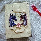 Канцелярские товары handmade. Livemaster - original item Cookbook with dragons. Handmade.