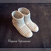 Обувь ручной работы handmade. Livemaster - original item Knitted shoes. Knitted boots.