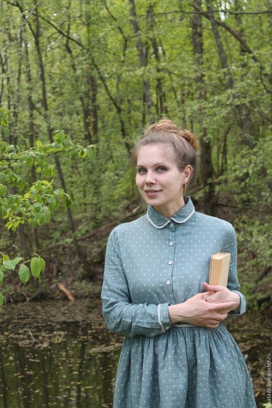 Платья ручной работы. Ярмарка Мастеров - ручная работа. Купить Голубое платье. Handmade. Голубой, платье на каждый день