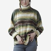 Одежда handmade. Livemaster - original item The volume knitted sweater with side slits. Handmade.