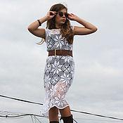 Одежда ручной работы. Ярмарка Мастеров - ручная работа Белое ажурное платье. Handmade.