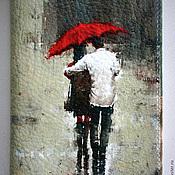 handmade. Livemaster - original item Passport cover Together in the rain. Handmade.